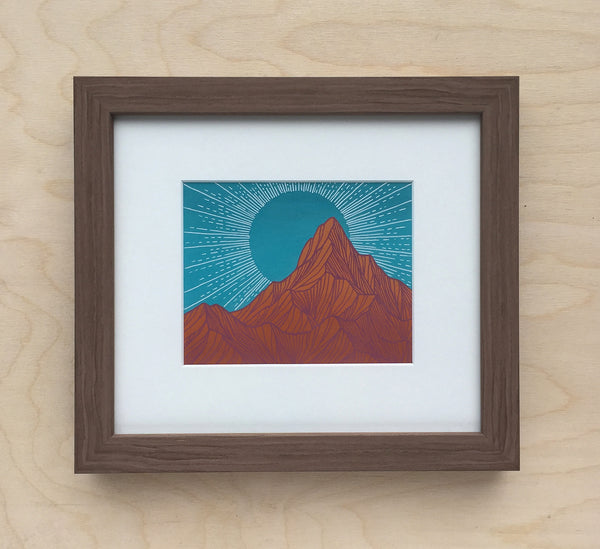 Untitled Mountain Study 10 Framed Original Painting