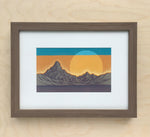 Untitled Mountain Study 8 Framed Original Painting