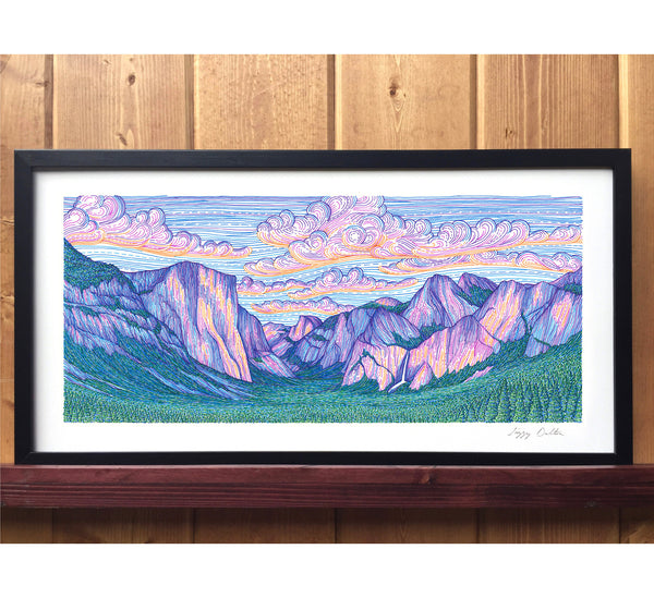 Yosemite Valley Sunset Print