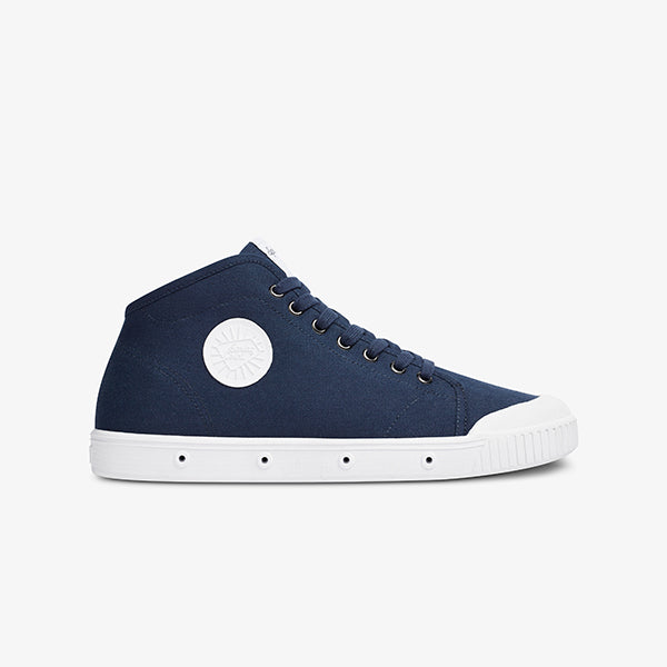 Mens Mid Cut Navy Sneaker