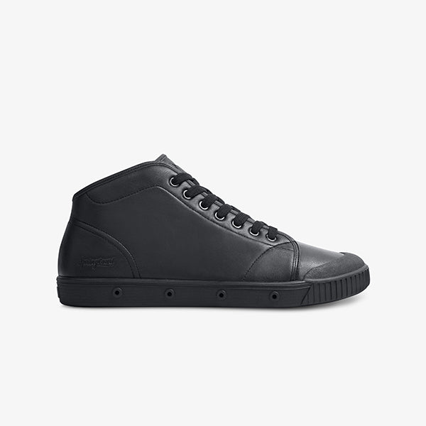 mens black laceup sneaker side view