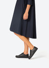 Style your Black Springcourt sneakers with a maxidress