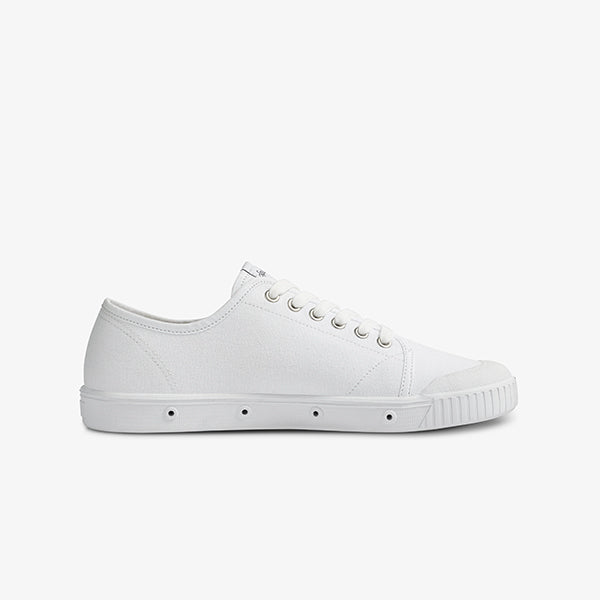 Side View Womens White Sneakers from Springcourt