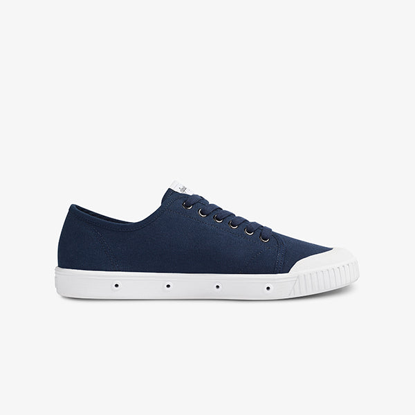 Side View Navy Women's Sneaker