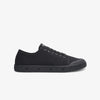 Black Womens Low Cut Sneakers Side View