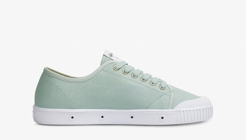 Springcourt Light Grey Womens Lace Up Low Cut Sneakers