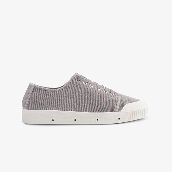 Mens Grey Twill Sneakers