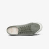 Green Leaf Washed Twill Womens Lace Up Shoes Top View.