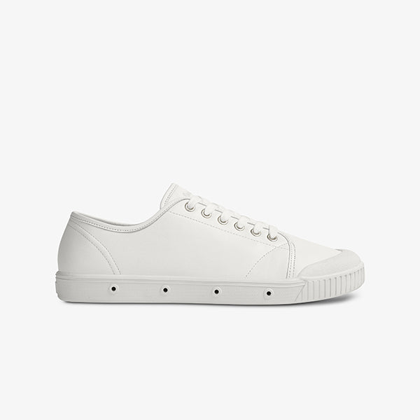 White Womens Low Cut Canvas Sneakers