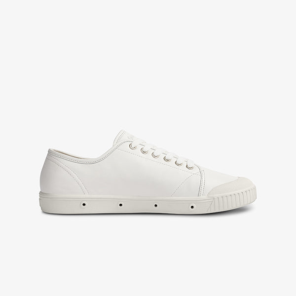 Side View Womens Lace Up white Sneakers