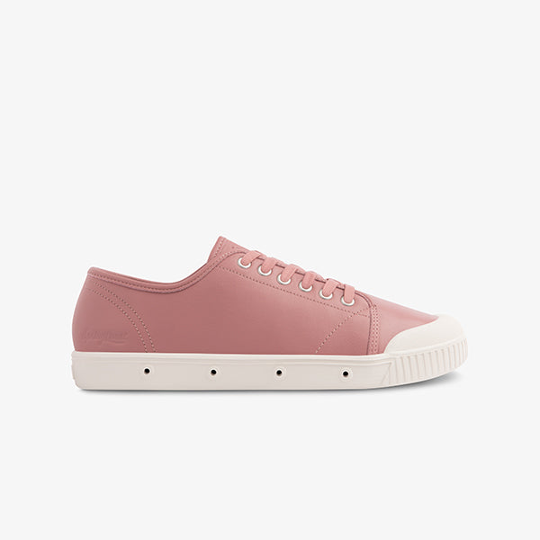 Pink Goatskin Leather Women's Sneakers