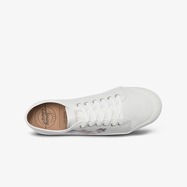 Women's White Goatskin leather Springcourt Sneaker