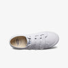 Inside view womens Organic Scratch Canvan Low Cut White Sneakers