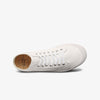 Top View Womens Mid Cut White Sneaker Lace Up