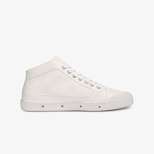 Inner side view womens white sneaker boot