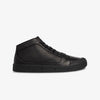 Black Leather Women's Mid Cut Sneakers