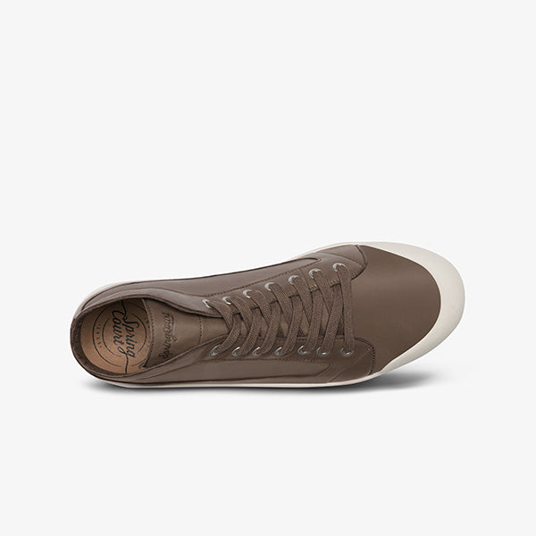 Side View lambskin Leather Sneakers