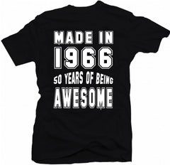 50 Years Of Being Awesome Birthday T-Shirt - theteehouse