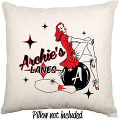 Archies Lanes Ten Pin Bowling Style Throw Cushion - theteehouse