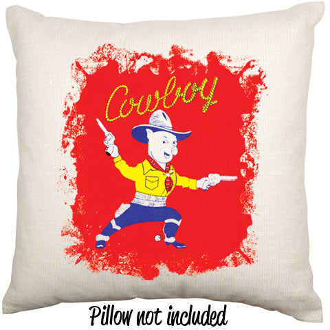 Cowboy Pig Piggy Bang Bang Throw Cushion - theteehouse