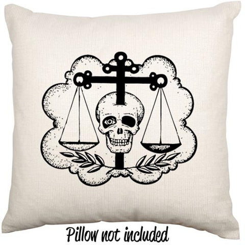 Russian Skull and Scales Tradtional Tattoo Art Throw Cushion - theteehouse