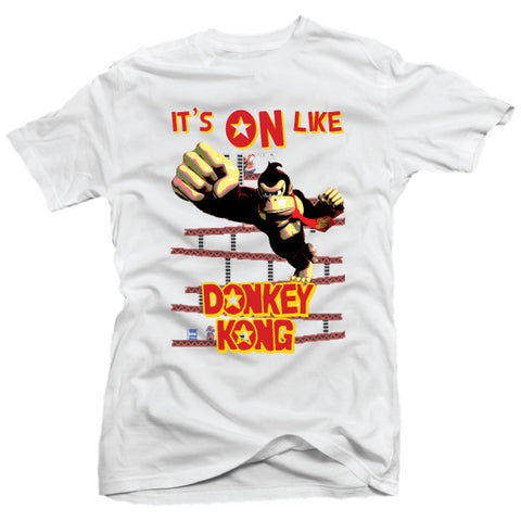 It's On Like Donkey Kong Classic 80's Arcade Game New Mens T-Shirt - theteehouse