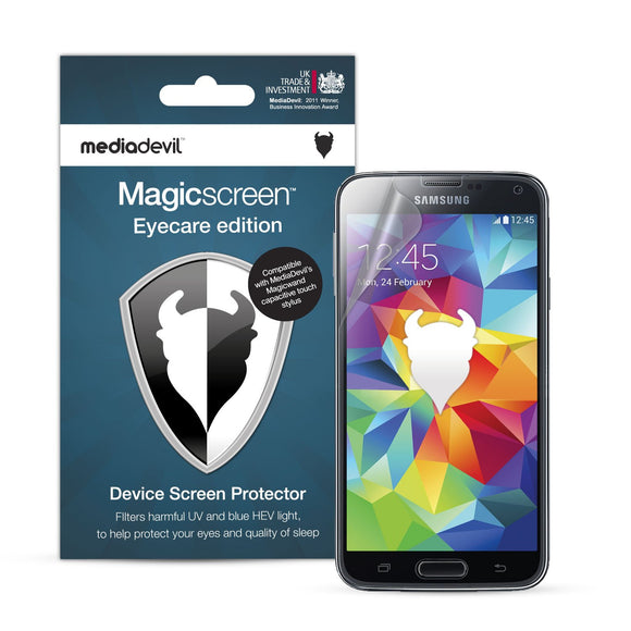 Anti Blue Light Screen Protector - Samsung S5 (Anti UV, Blue, & HEV Light) - Migraine Relief Store