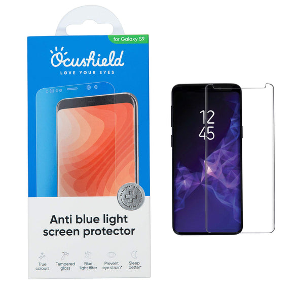 Anti Blue Light Screen Protector - Tempered Glass for Samsung S9 / Plus - Migraine Relief Store