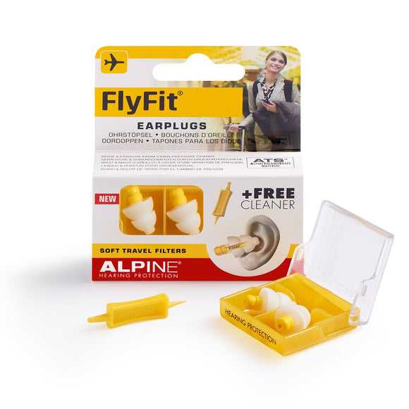 Alpine FlyFit Pressure Protecting Ear Plugs - Flying / Travel - Migraine Relief Store