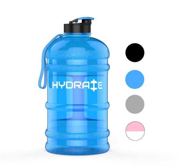 Full Day's Hydration - 2.2 Litre Water Bottle  (Various Colours) - Migraine Relief Store