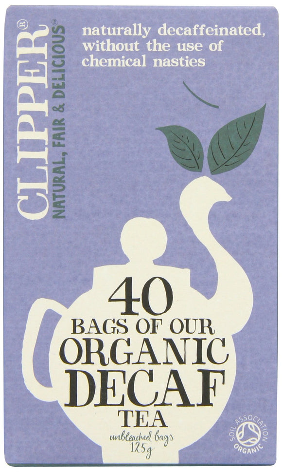 Clipper Organic Decaffeinated Everyday Teabags (Pack x 6, Total 240 Teabags) - Migraine Relief Store