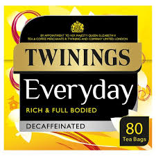Twinings Everyday Decaffeinate Tea (80 x Teabags) - Migraine Relief Store