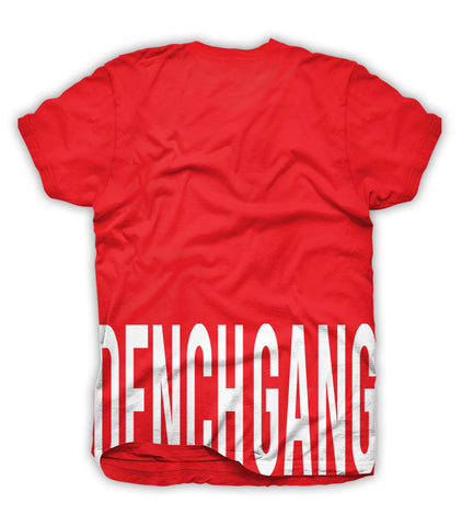 Dench Gang Hem Tee Red/ White