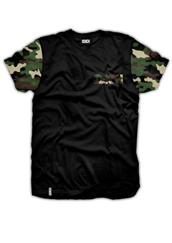 Dench Camo Tee Black