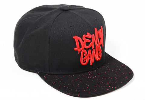 Dench Gang Splatter Black / Red SnapBack