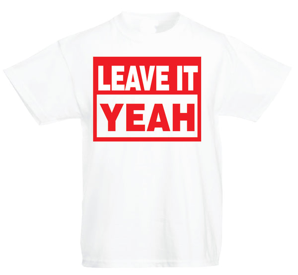 Kids Leave It Yeah Tee White/ Red