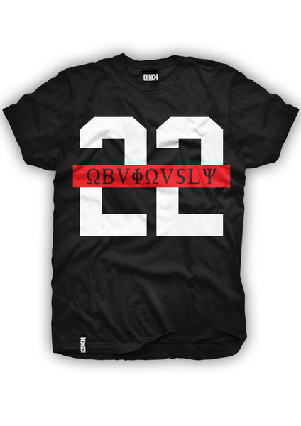 Dench 22 Obviously Red Strip Tee Black