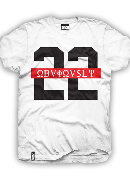 Dench 22 Obviously Red Strip Tee White