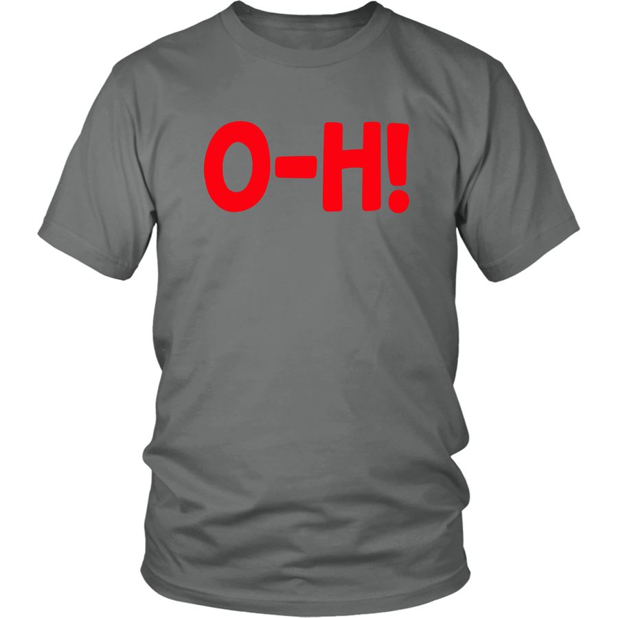 O-H! I-O! Grey/Black Combo Couples T-shirts