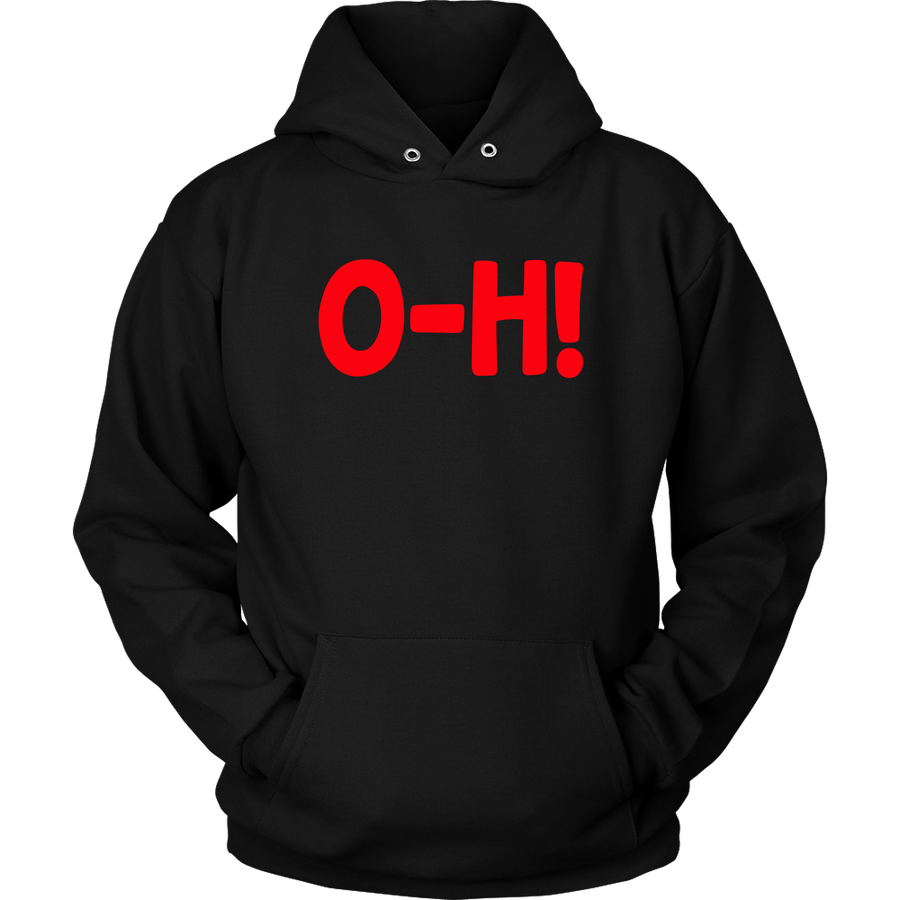 O-H! I-O! Black/Red COMBO COUPLES Hoodies