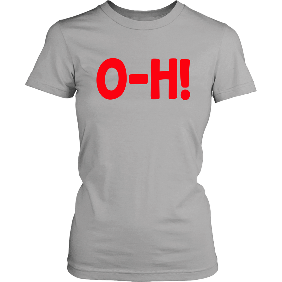 O-H! I-O! Grey/White COMBO Women's T-SHIRTS