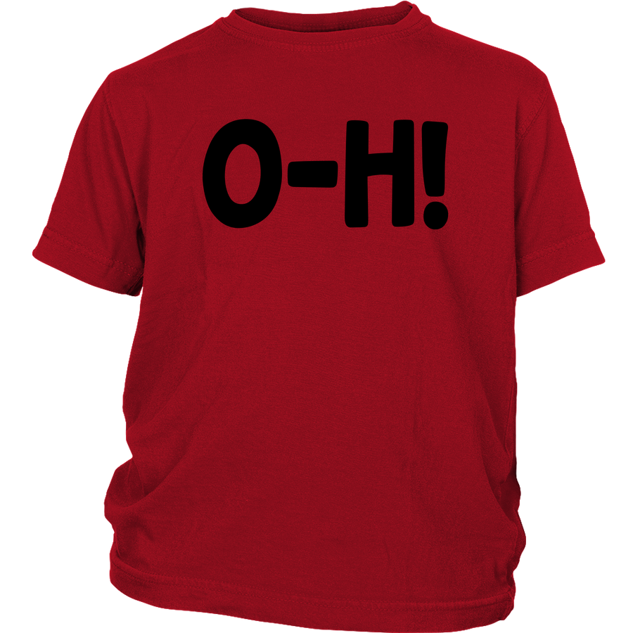 O-H! I-O! YOUTH RED/Grey COMBO UNISEX T-SHIRTS