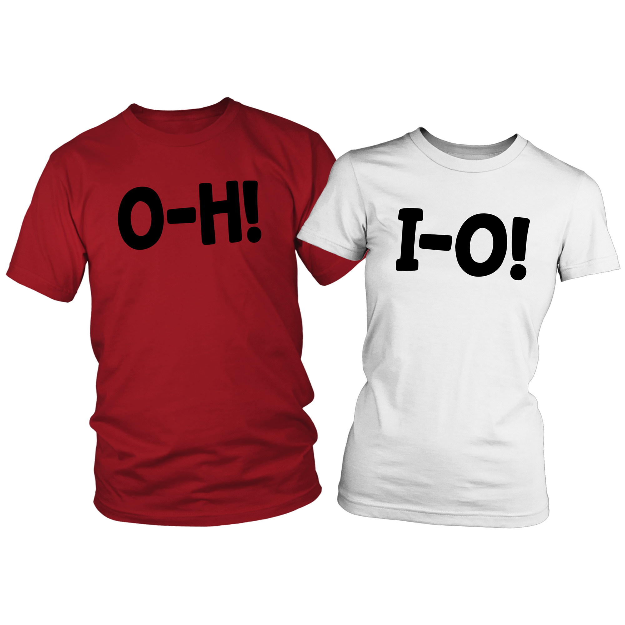 O-H! I-O! Red/White Combo Couples T-shirts