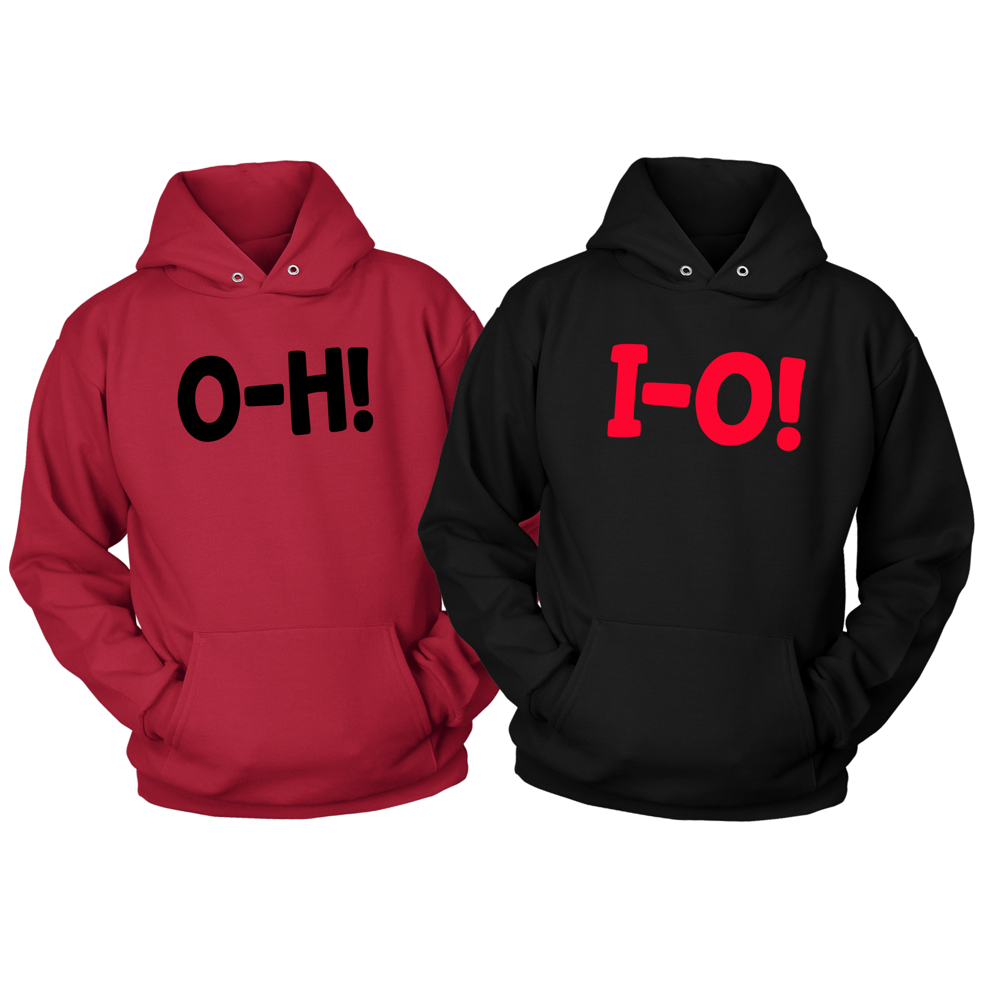 O-H! I-O! Red/Black COMBO COUPLES Hoodies