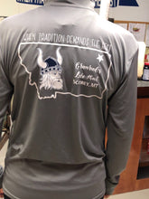 Load image into Gallery viewer, Granrud's Lefse Grey Long Sleeve T-Shirt - Tradition Style with 1/3 Zipper