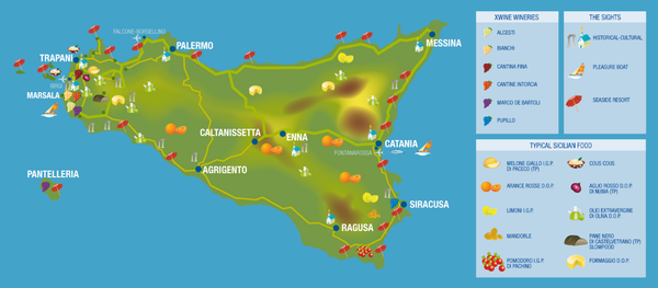 XWine Sicilian Wine Talents Karte Map