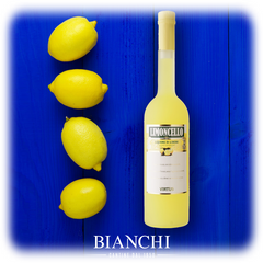Buy Italian lemon liqueur produced in Italy (Naples, Amalfi, Ischia, Capri) with lemons from Sicily (Northern Italy the liqueur is called Limoncino) to make cocktails, pastry or ice cream with alcohol content between 25% & 30% Vol. • Limoncello-Zitronenlikör kaufen mit frischen Zitronen aus Süditalien (Amalfi/Sorrento/Sicilia). Limoncello Drinks & Rezepte. Magnum Flaschen Likör aus Zitronen. 4 Vier gelbe Zitrone/Limone auf blauem Hintergrund in Italien am Meer • Il Limoncello (bevanda) è un liquore dolce. kaufen: Limoncello aus 🇮🇹Italien im Shop bestellen, Giuseppe BIANCHI Distillati