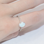 Load image into Gallery viewer, Classic White Opal Ring - KAISWAI LLC