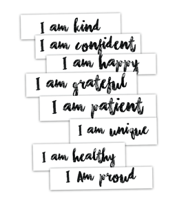 Tattoo Moments | Positive Affirmations Temporary Tattoos