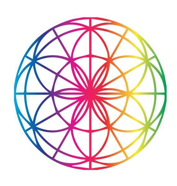 6142955bc ... Load image into Gallery viewer, Rainbow Sacred Geometry Pack-Tattoo  Moments ...